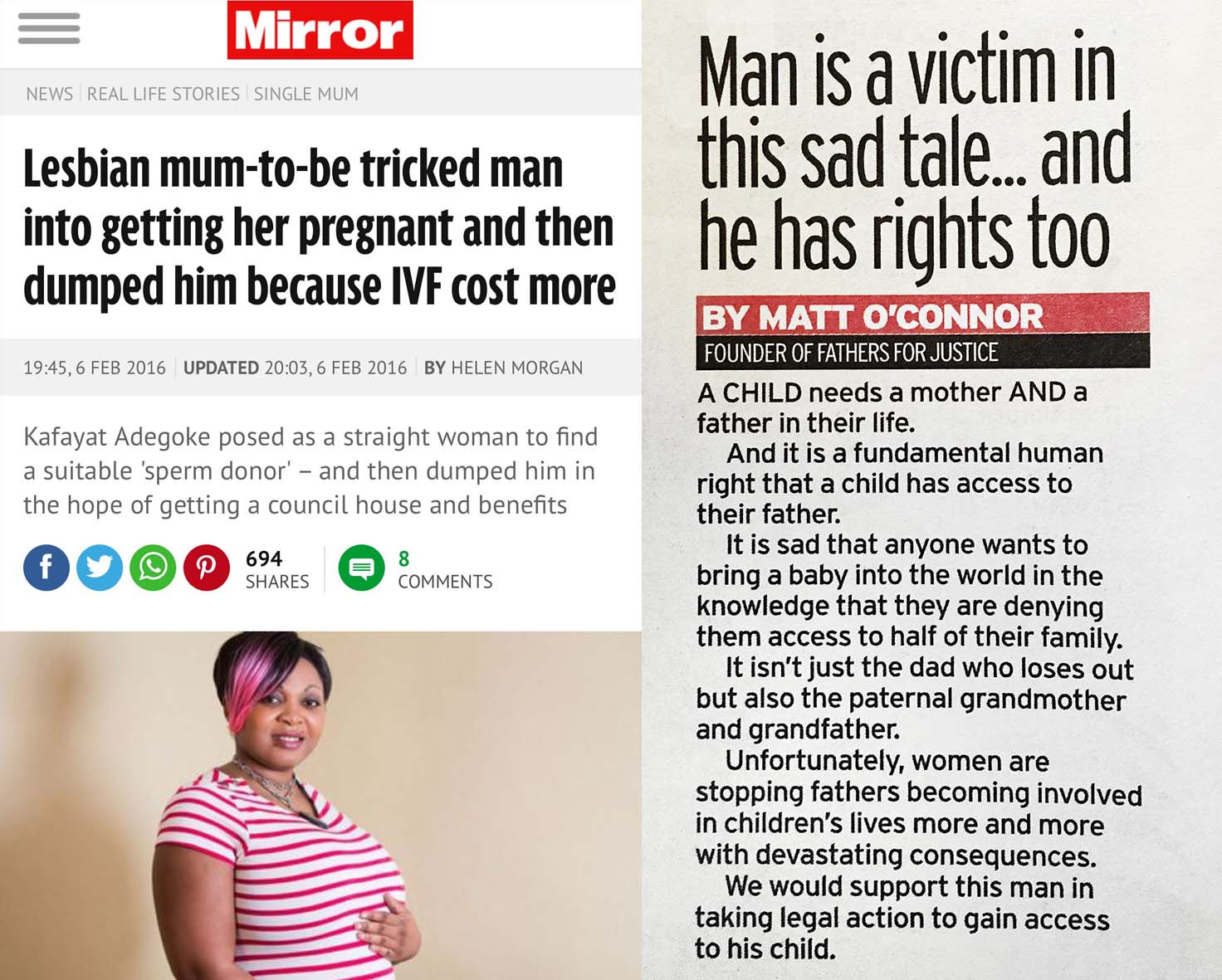 lesbian mum tricked man into getting her pregnant - we are