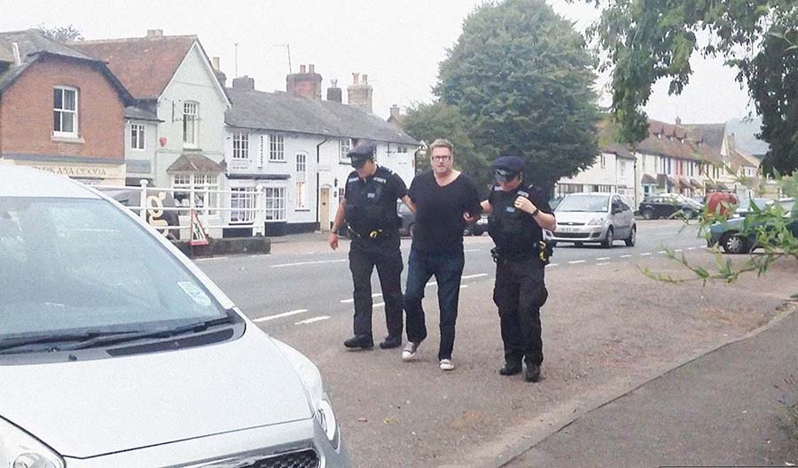 MATT ARREST WITH OFFICERS 2