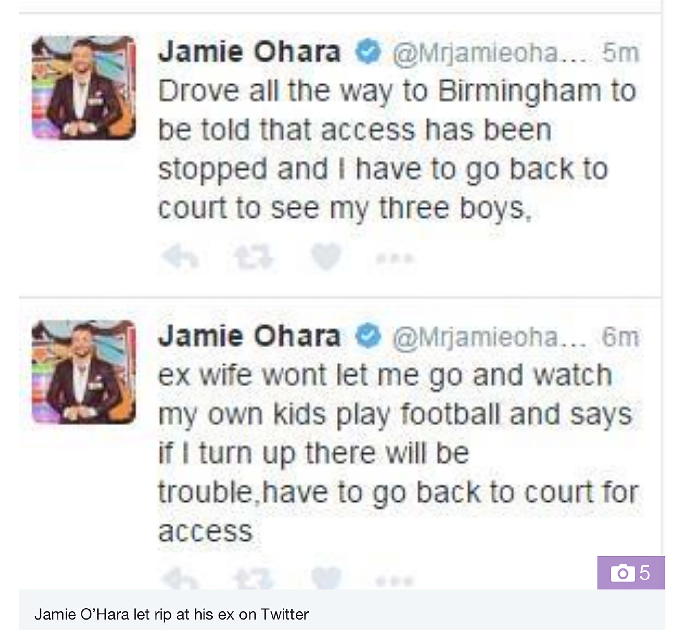 Jamie O'Hara brands Danielle Lloyd a 'disgrace' claiming she's