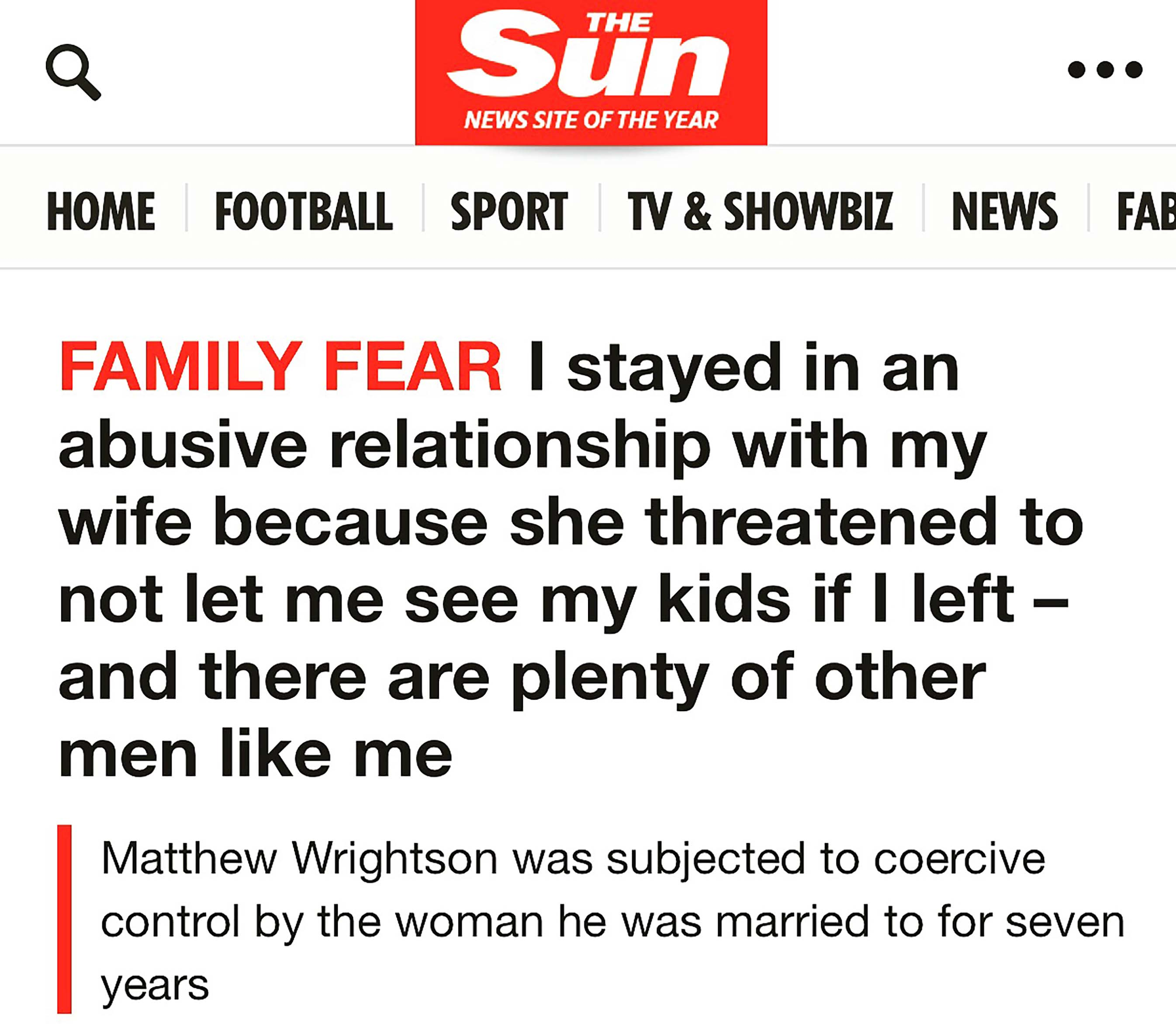 The Sun: The forgotten fathers who are victims of coercive